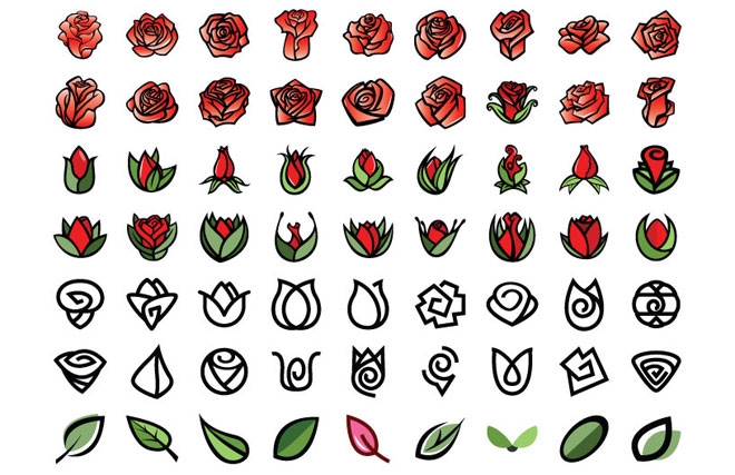 Rose Vector Creation Kit  Create Your Lovely Roses