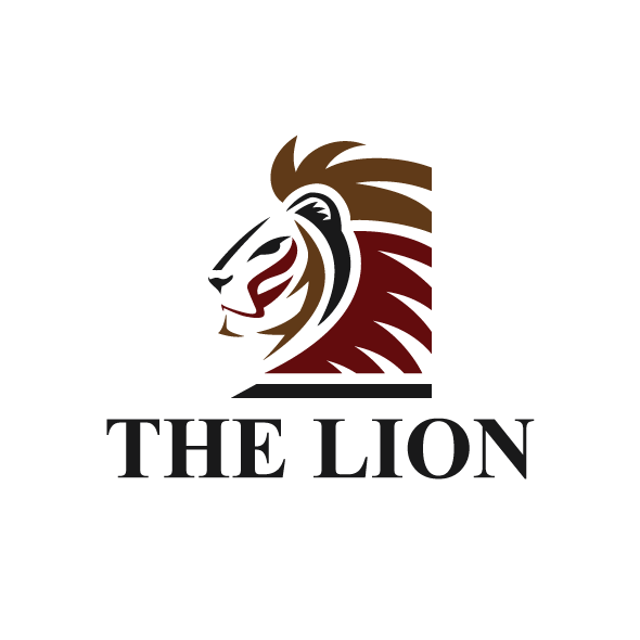 the lion logo template