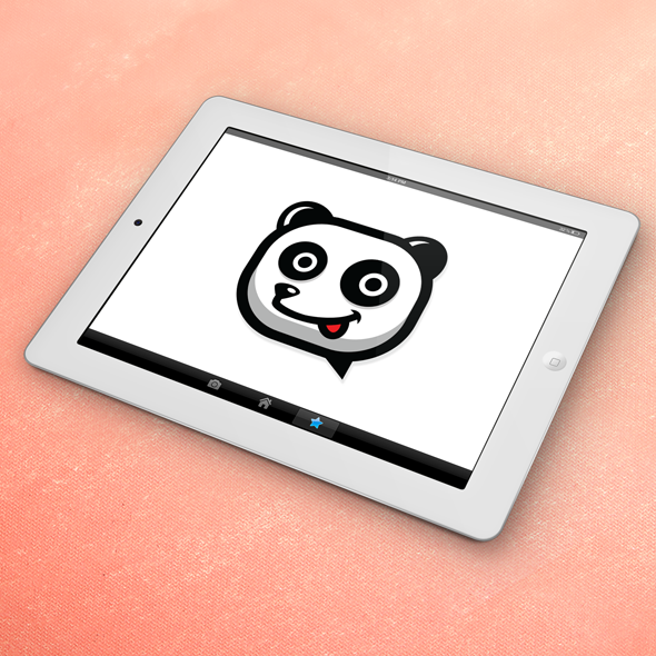chat panda messenger vector logo template