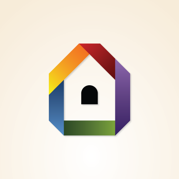 Rainbow Property Vector Logo Template