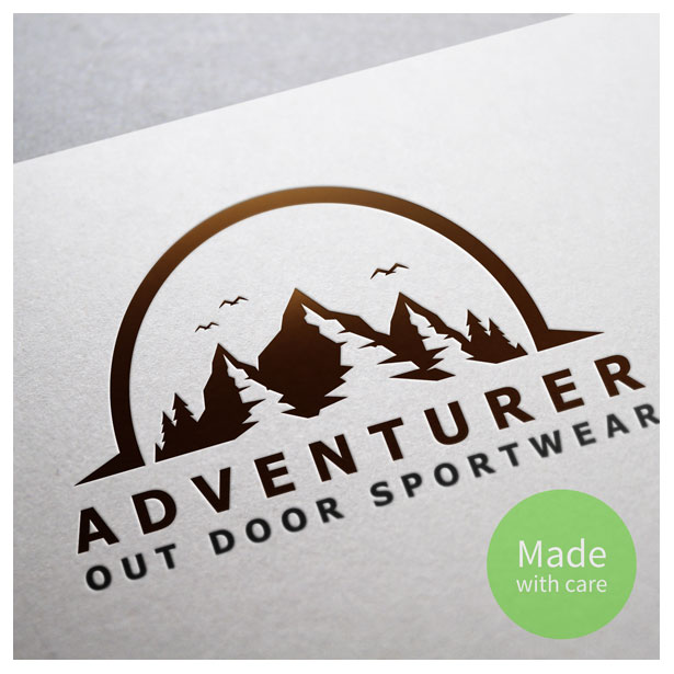 Three mountain logo template made in vector format