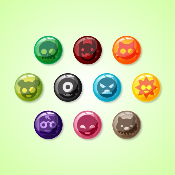 Game Asset - Creature Marbles for Puzzle Games