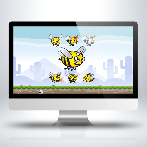 Killer-bee-insect-game-character-sprite-sheet-sidescroller-game-asset-flying-flappy-animation-gui-590