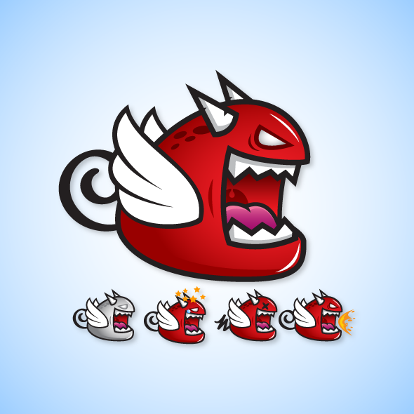 evil-devil-monster-beast-creature-game-character-sprite-sheet-sidescroller-game-asset-flying-flappy-animation