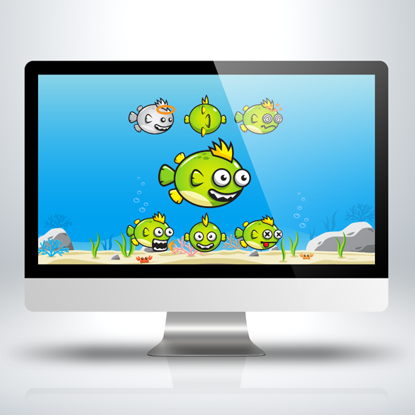 punk-fish-swimming-ocean-see-game-character-sprite-sheet-sidescroller-game-asset-flying-flappy-animation-gui-590
