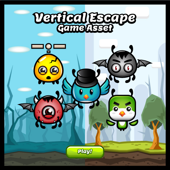 Vertical Escapes Game Asset