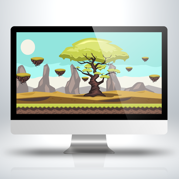 Side-Scrolling Elder Tree Game Background