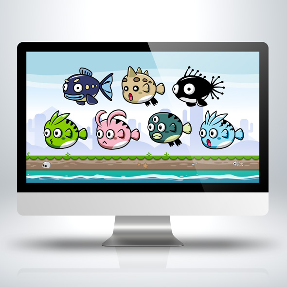 villain-fish-monster-enemy-enemies-game-character-sprite-sheets-side-scroller-for-indie-game-developers