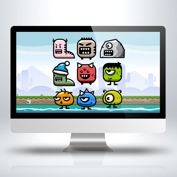 9-land-monster-game-character-sprite-sheet-sidescroller-game-asset-animation-gui-mobile-games-gameart-game-art
