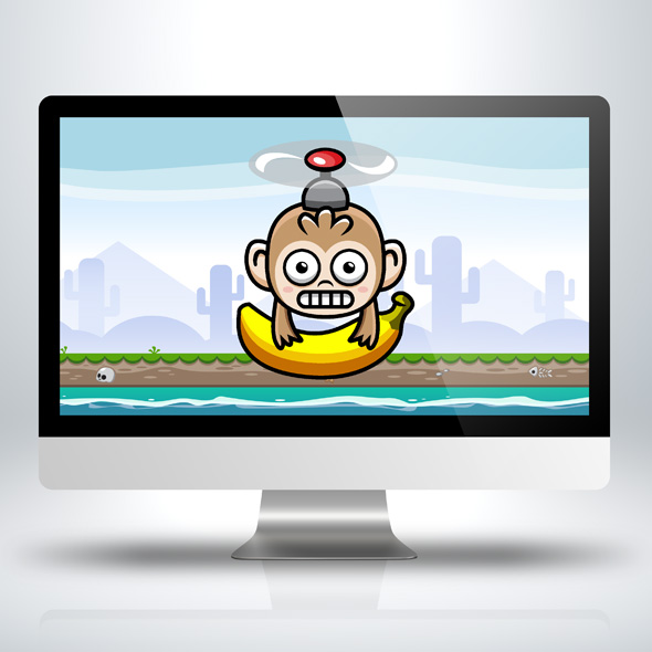 banana-monkey-vertical-scrolling-game-character