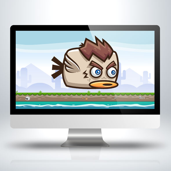 hairy-flappy-duck-sprite-sheets-game-asset-game-character