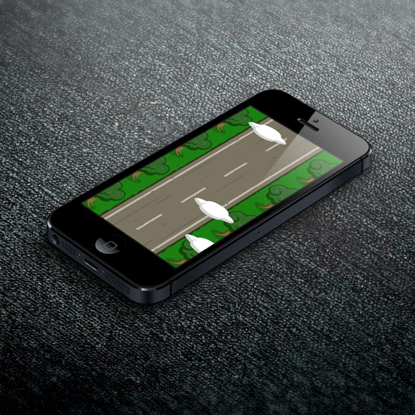 Lonely road vertical game background for game developers