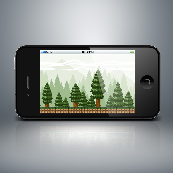 Pine Forest Mountain Game Background for game developers