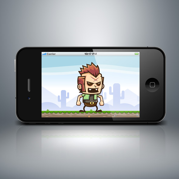punk man game character, running and jumping game asset for game developers.
