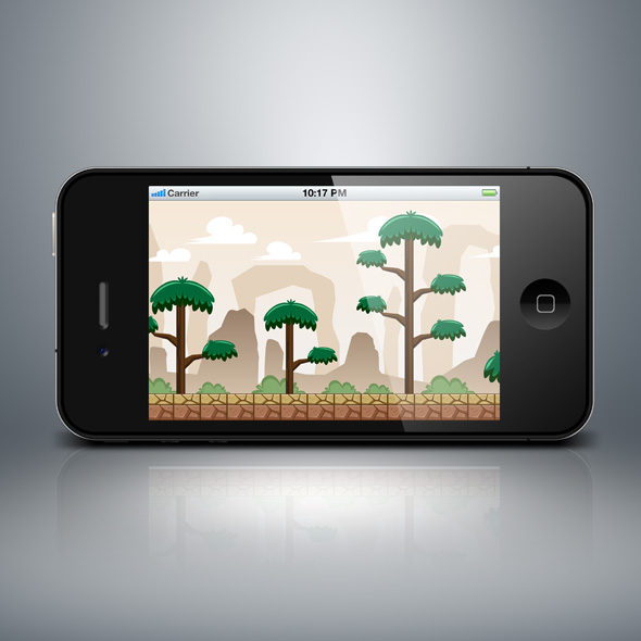Tall tree forest game background wallpaper