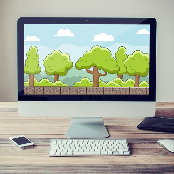 peaceful forest game background for game developers