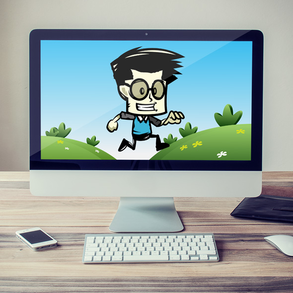 rick the geek game character sprites for game developers