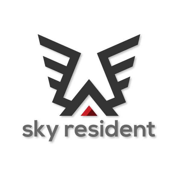sky resident logo template