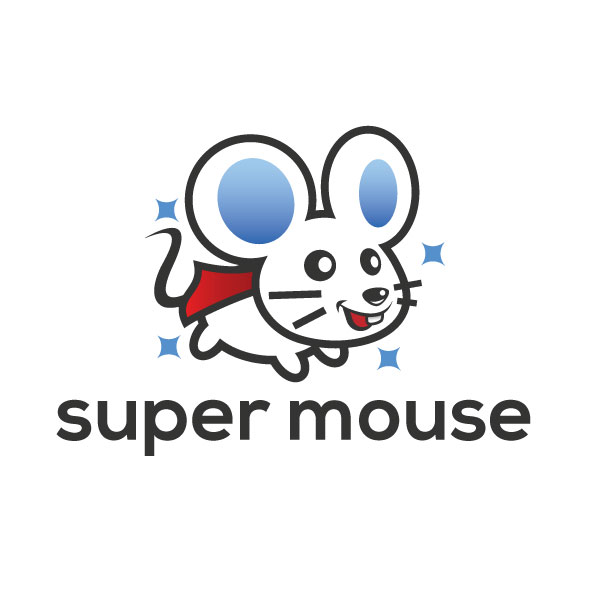 super mouse logo template
