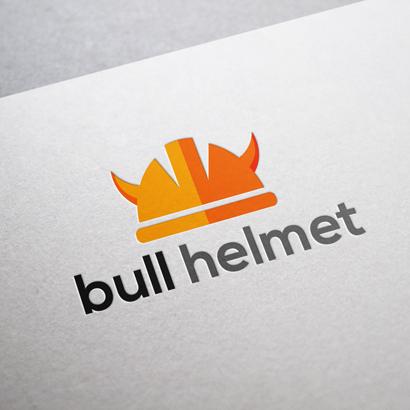 bull helmet vector logo template