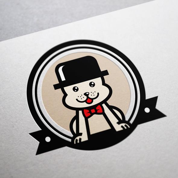 Dog Store vector logo template