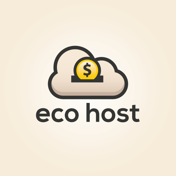 Eco Host vector logo template