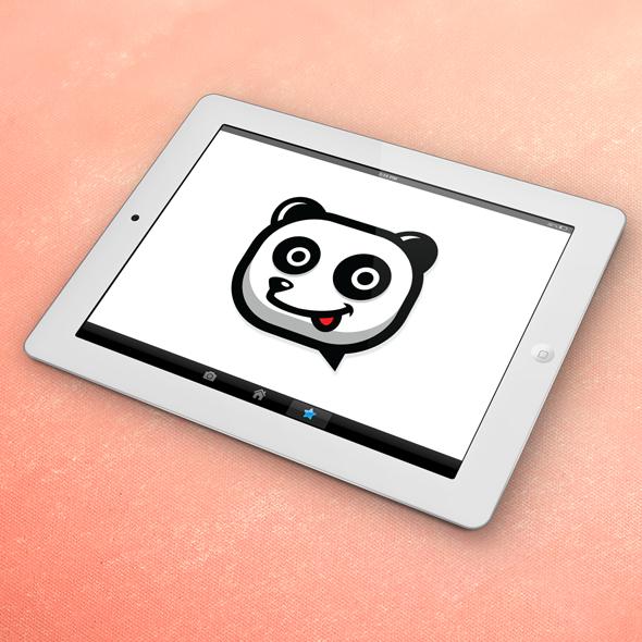 Panda Vector logo template