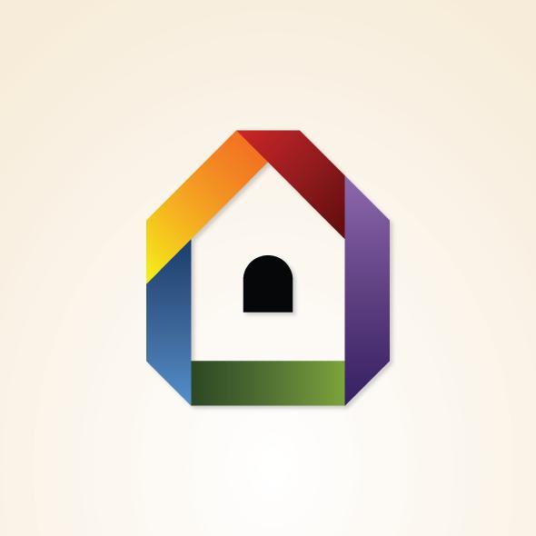 rainbow property logo template