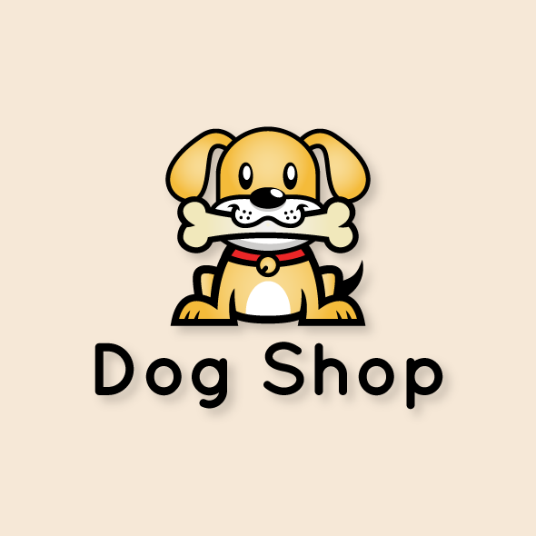 Dog Shop Logo Bevouliin