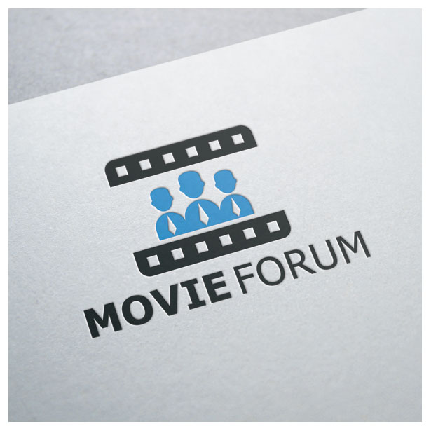 movie-forum-ribbon-people-logo-template-4
