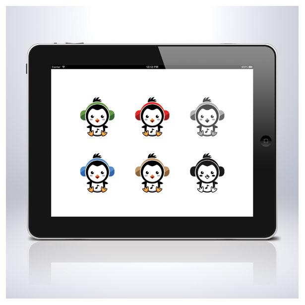 penguin-music-ice-sea-polar-logo-template-5