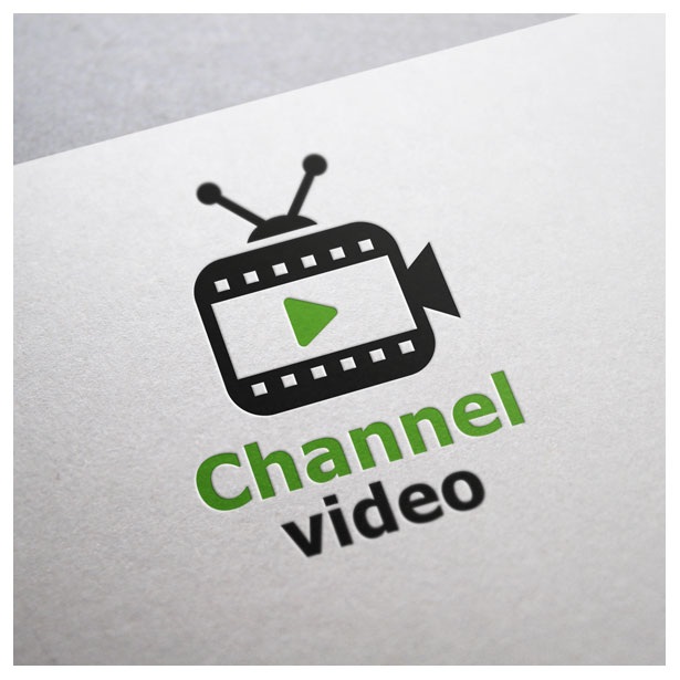 video television tv movie logo template preview