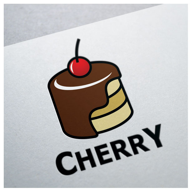 cherry-cake-chocolate-logo-template-one
