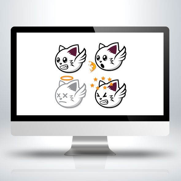 Game Asset - Flying Cat Sprite Sheet for Animation