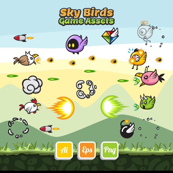 sky-birds-game-assets-sprite-sheets-animation-sidescroller-bevouliin