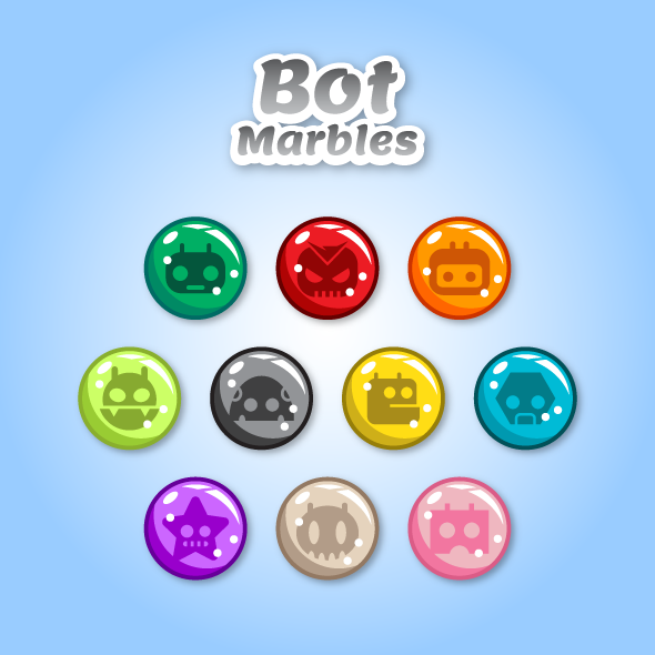 Game Asset - Robot Marbles