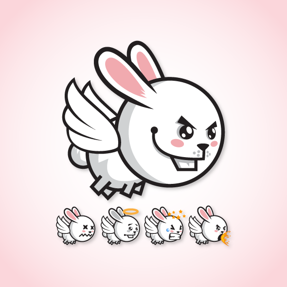 Game Character - Flappy Rabbit Sprite Sheets