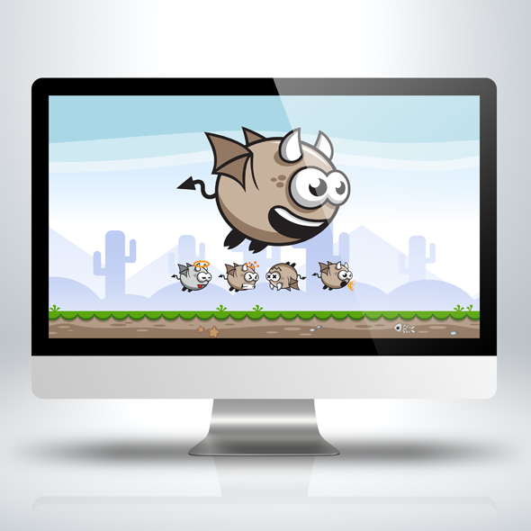 Game Asset - Cute Flying Devil Game Character Sprite Sheets
