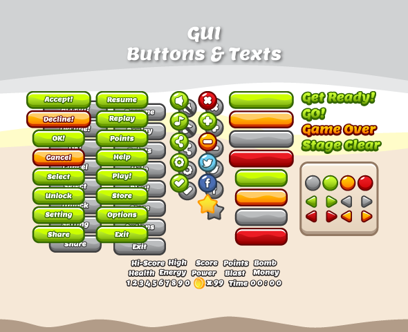 Flappy Riders Game Assets - Bevouliin