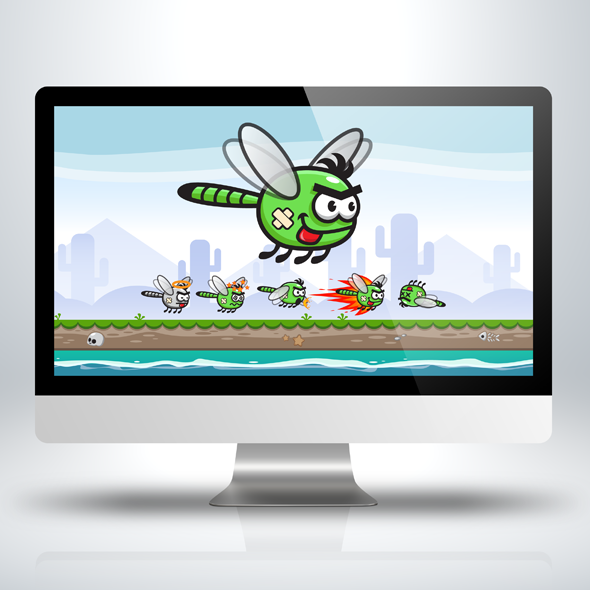 dragonfly-insect-bugs-game-character-sprite-sheet-sidescroller-game-asset-flying-flappy-animation-gui-mobile-games-gameart-game-art