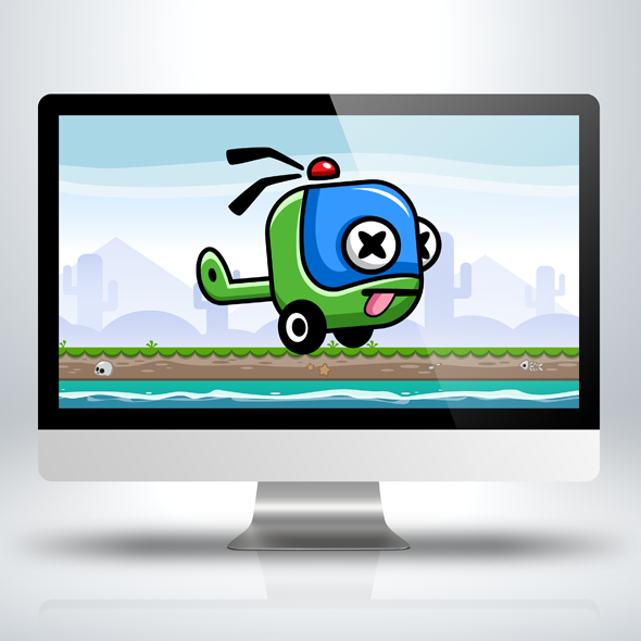 Game Asset - Copter Kid - Game Character Sprite Sheets