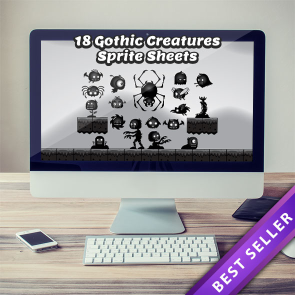 18 Gothic Creatures Sprite Sheets - Put More Enemies into Your Game
