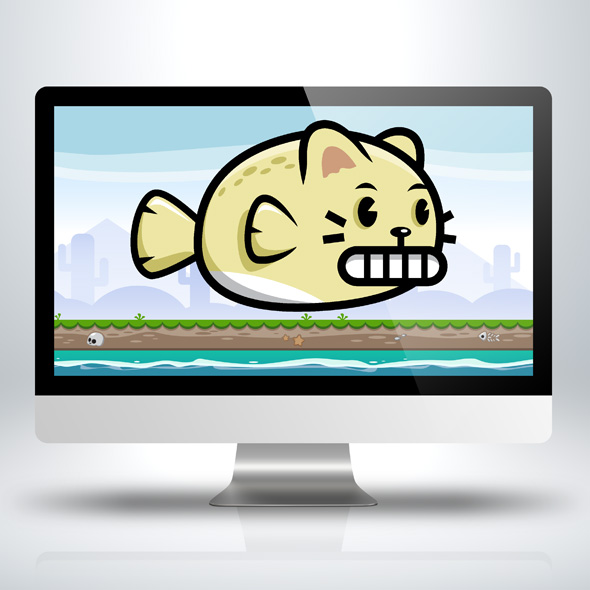 cat-fish-game-character-sprite-sheets-game-asset-game-art
