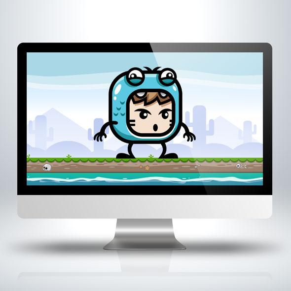 blue frog mascot sprites