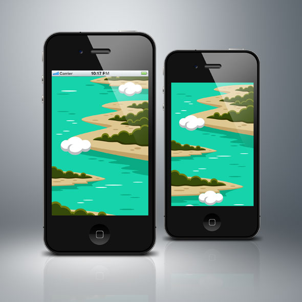 lands-on-sea-vertical-game-background