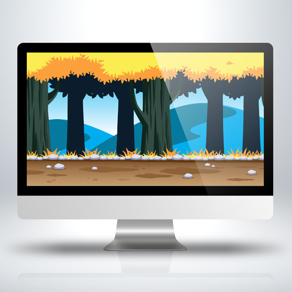 golden_forest_tree_2d_game_background