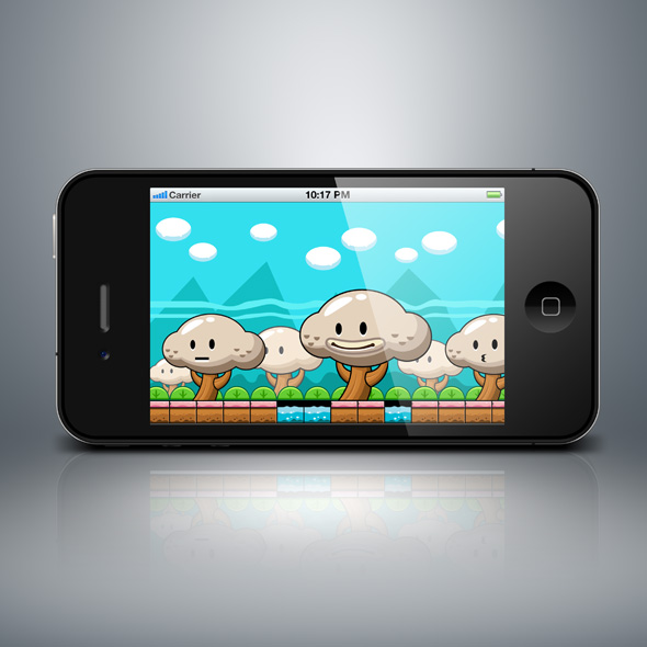 Fancy cute forest game background for game developers