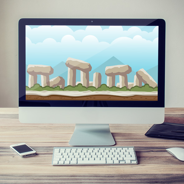 Ancient Stonehenge Game Background for game developers