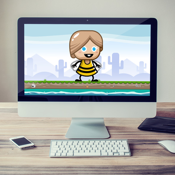 bee girl game asset character animation