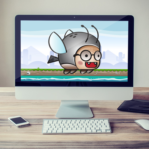 beetle shooter flappy game asset character for game developers.